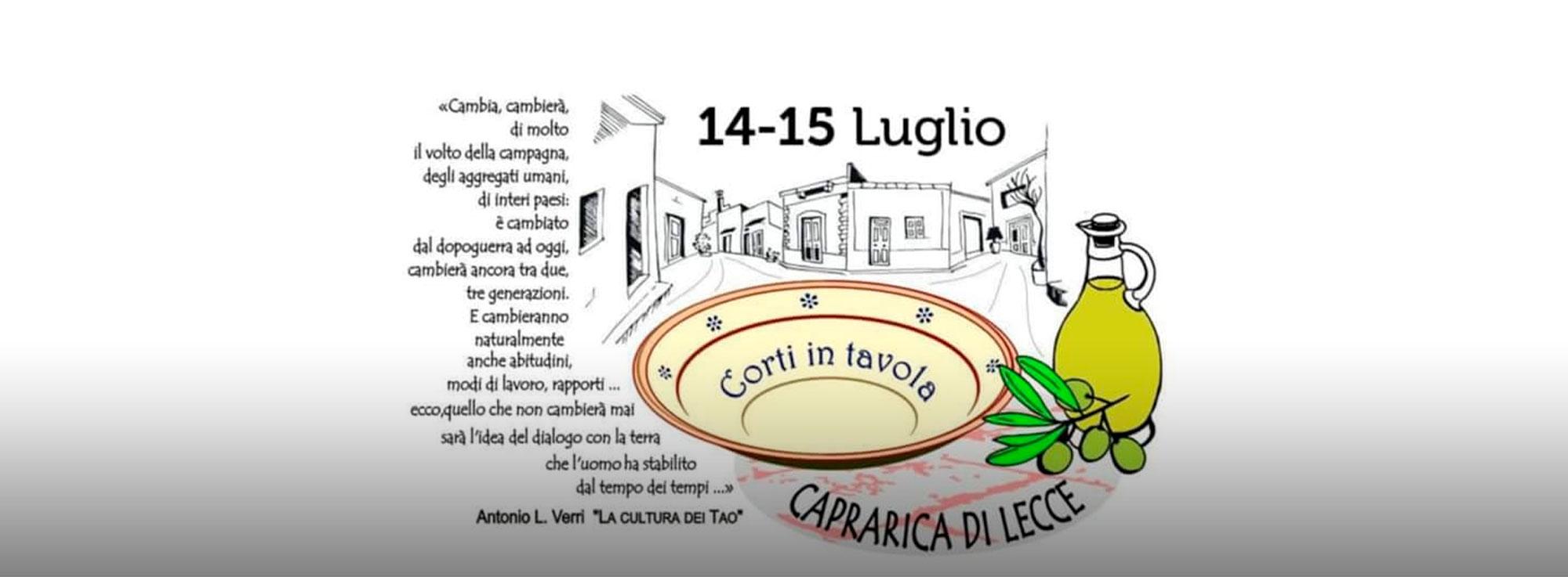 Caprarica di Lecce: Corti in Tavola