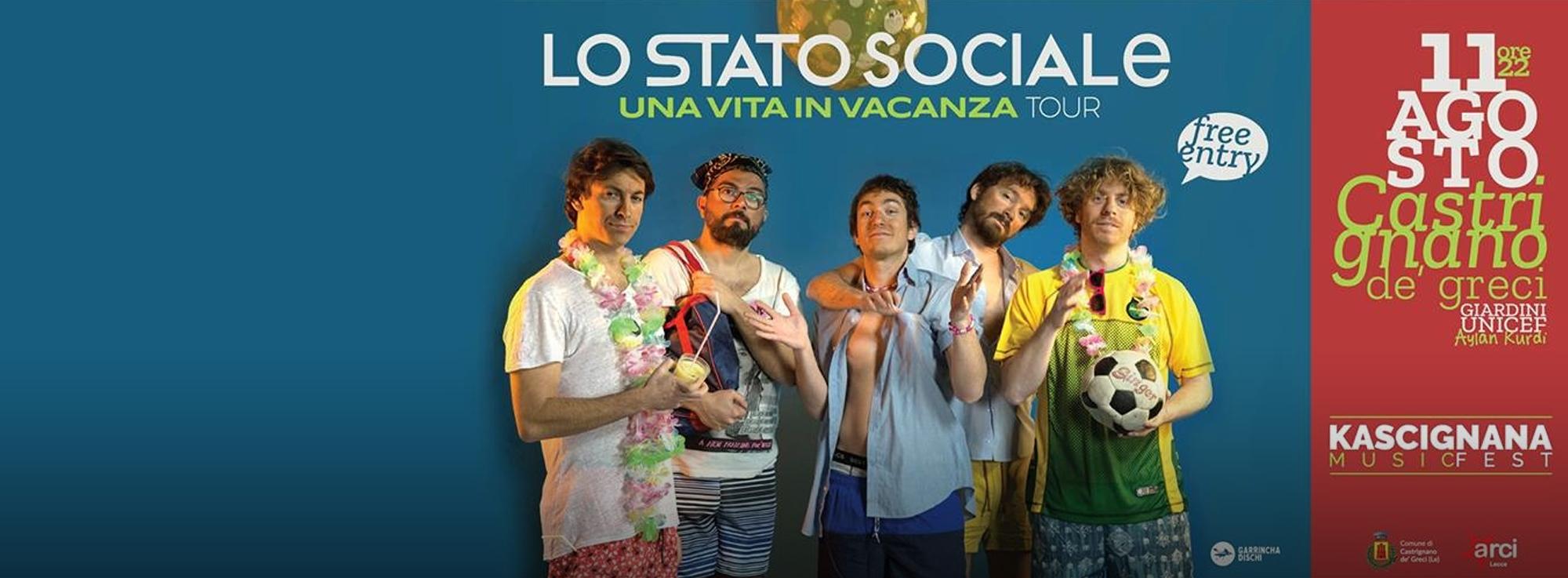 Castrignano de' Greci: Lo Stato Sociale in concerto