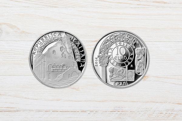 Cattedrale di Trani sulle monete d'argento per l'arte italiana
