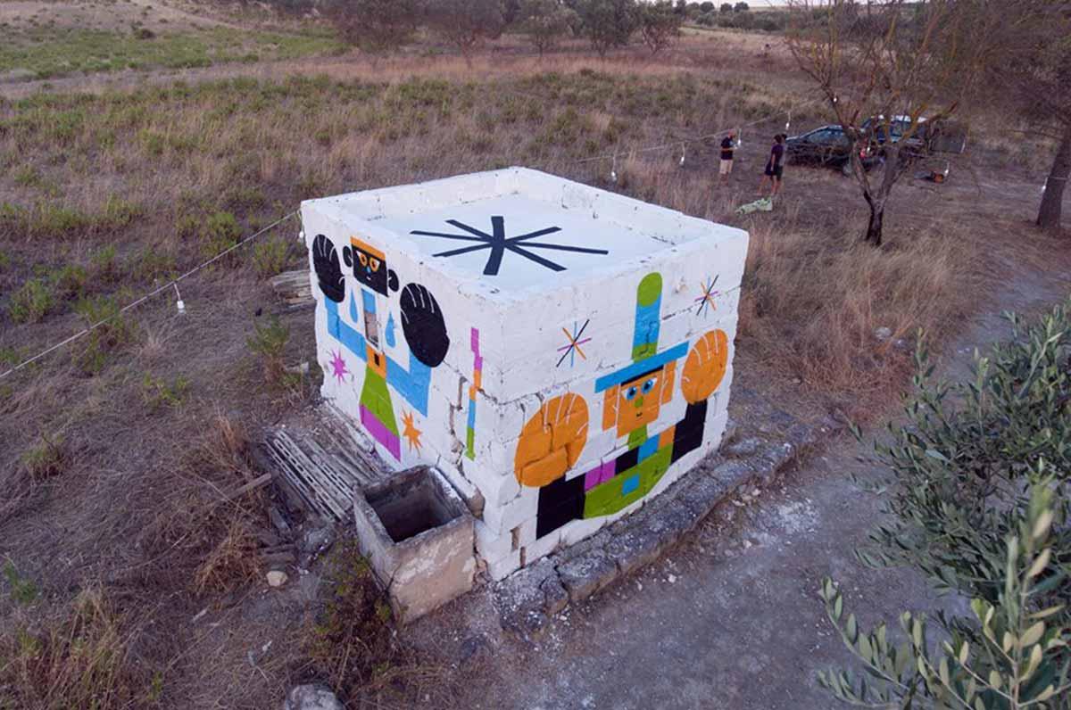 Monteparano, la street art è pugliese: la casodda si colora di vernice