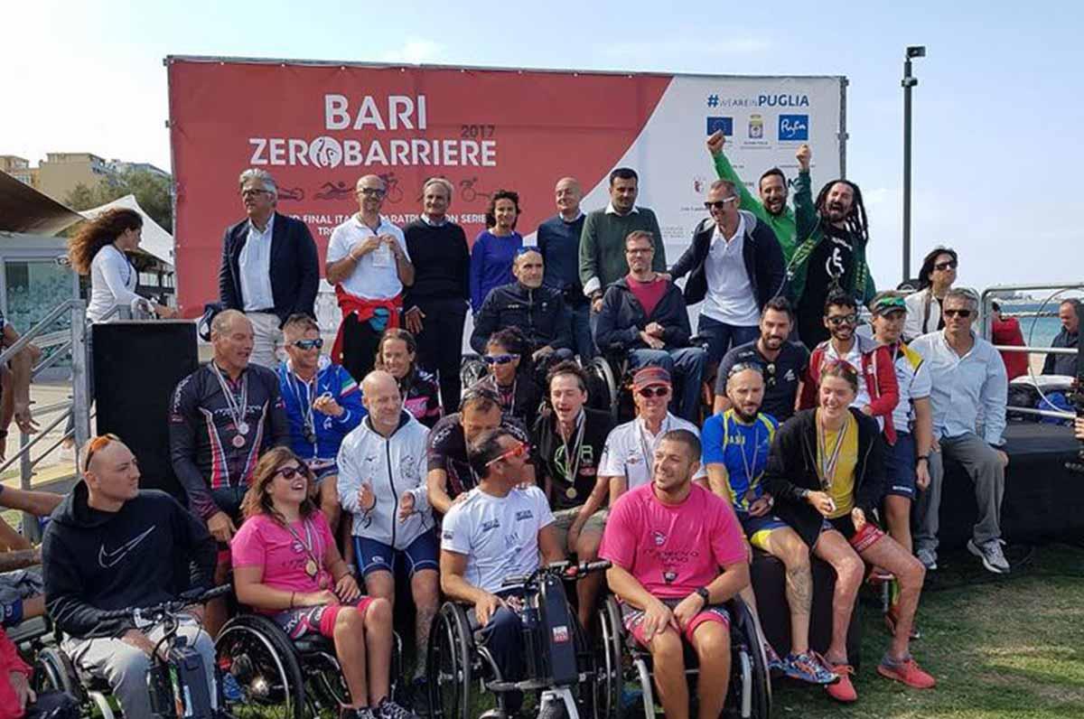 Zerobarriere, oggi gran finale di paratriathlon a Bari contro le barriere