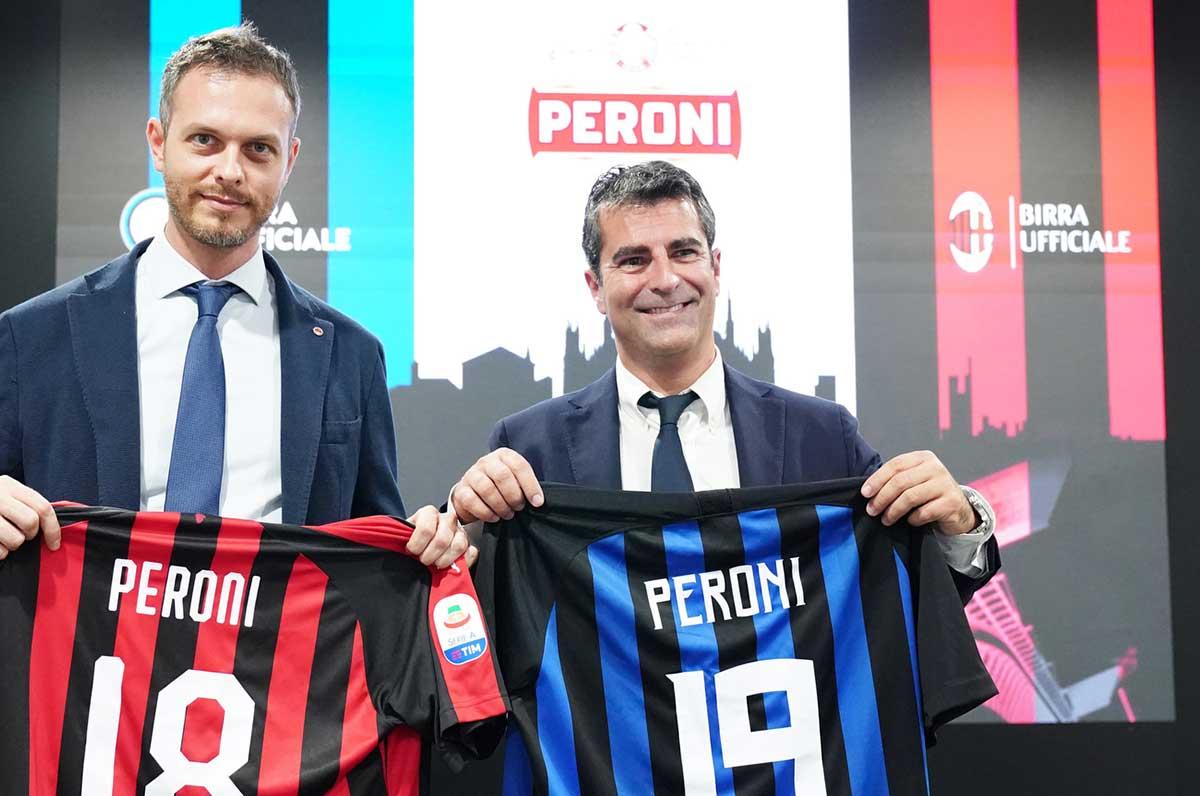Peroni diventa partner di Inter e Milan, accordo con le formazioni milanesi