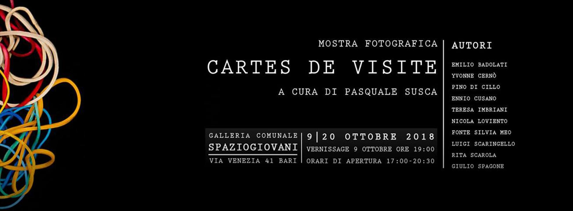 Bari: Mostra Fotografica Cartes de Visite