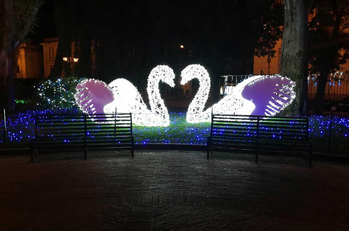 Polignano a Mare. Luminarie di Salerno per le festività del Natale