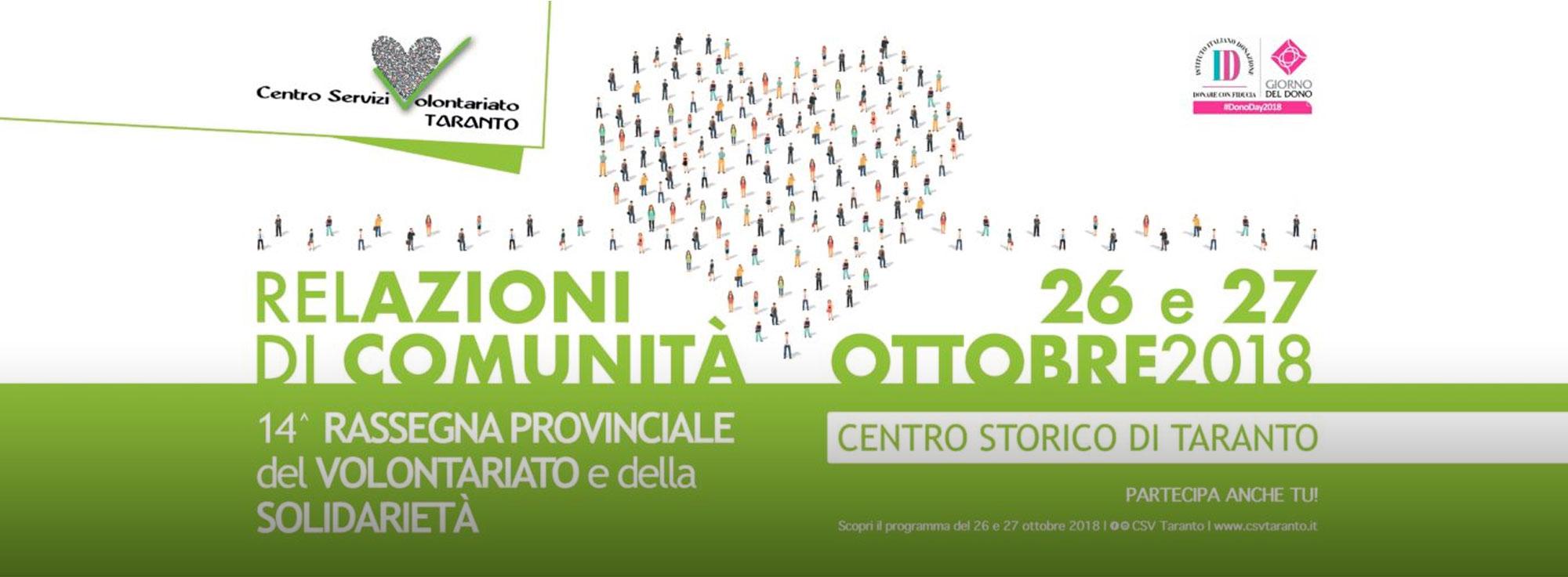 Taranto: Rassegna provinciale del Volontariato e della Solidarietà