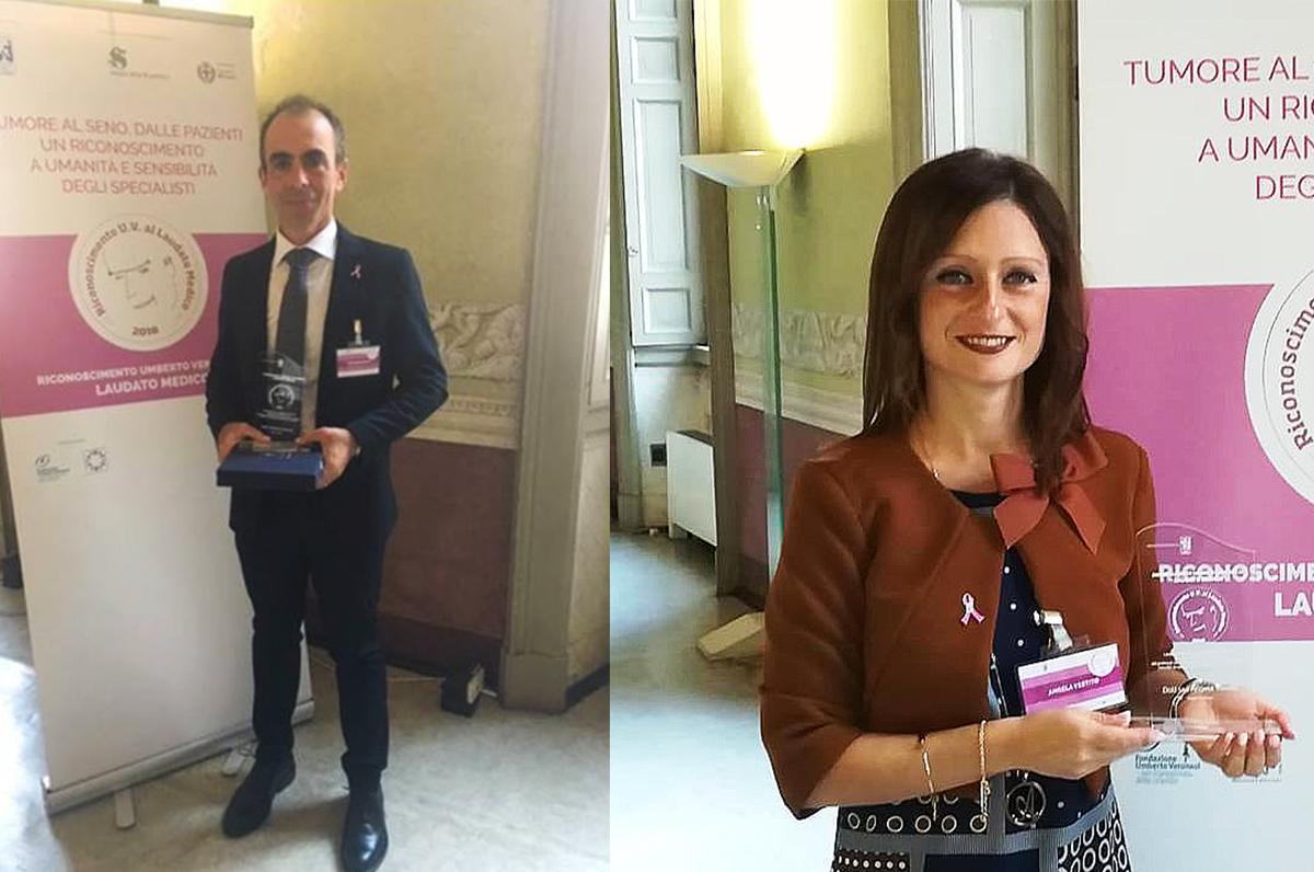 Umberto Veronesi, tra i premiati due medici baresi del San Paolo