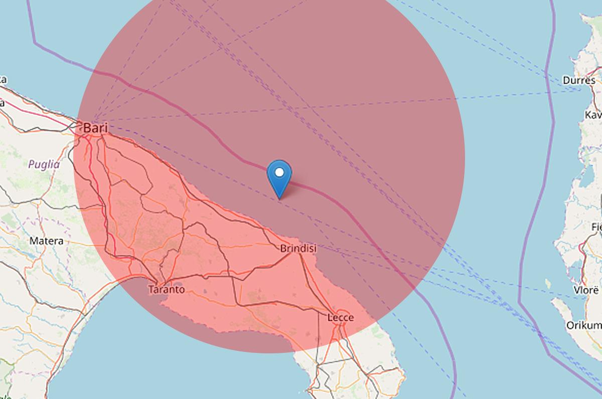 Terremoto, scossa di magnitudo 3,3 nel brindisino