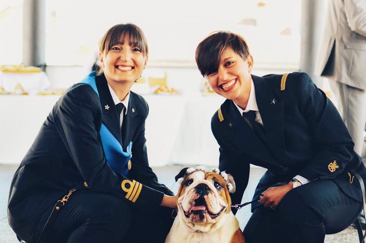 Matrimonio civile, l'ufficiale di Marina pugliese corona il suo sogno