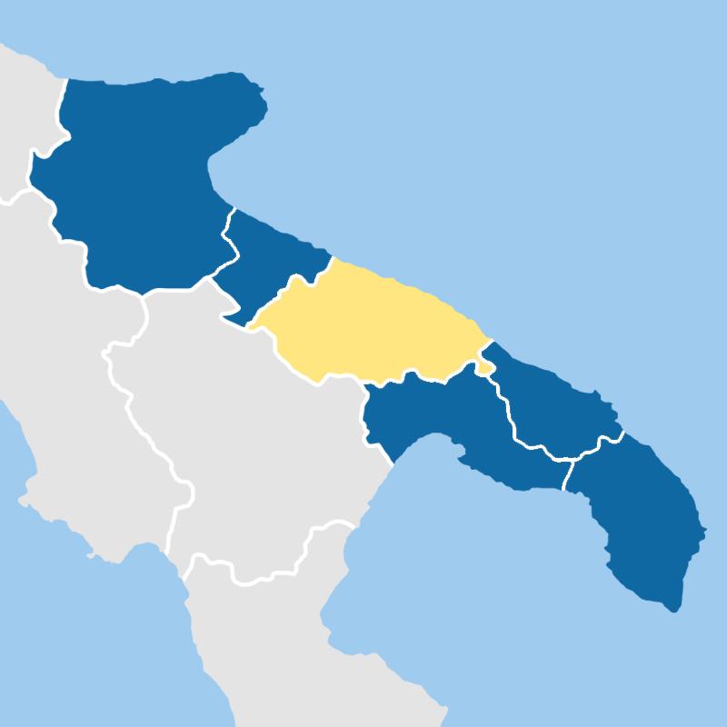 cartina provincia bari