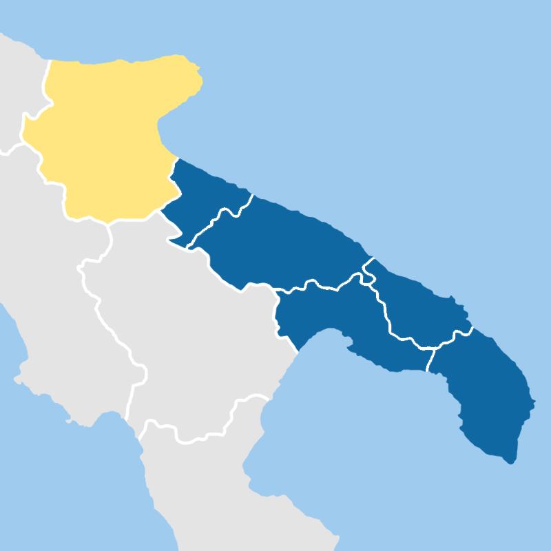 cartina provincia foggia