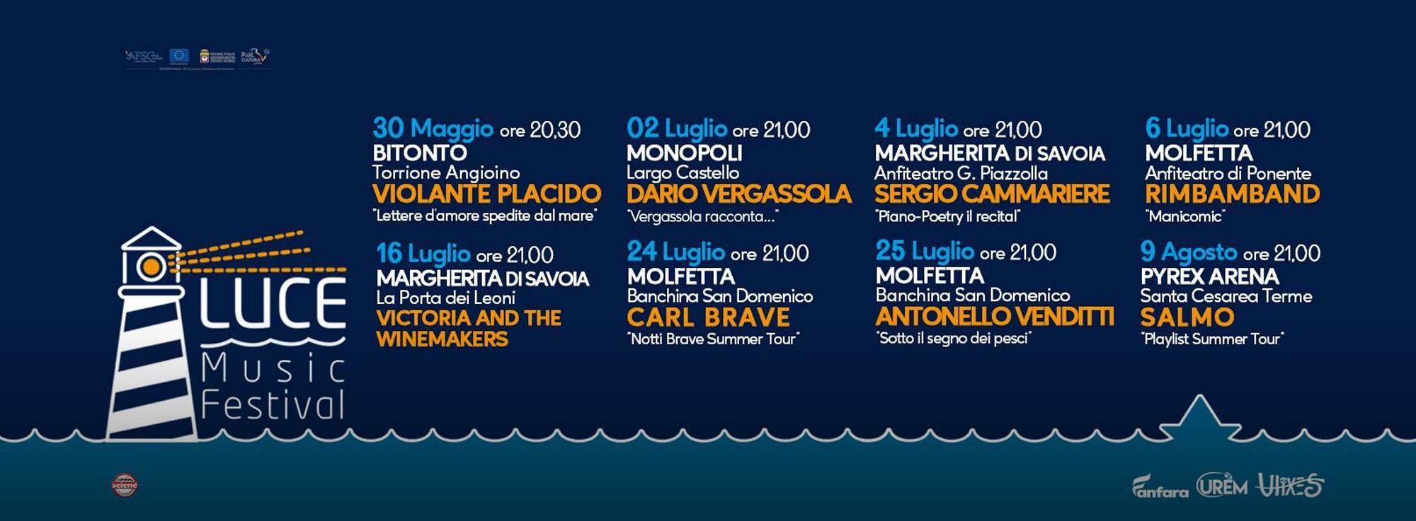 Polignano a Mare, Margherita di Savoia, Monopoli, Molfetta e Santa Cesarea Terme: Luce Music Festival