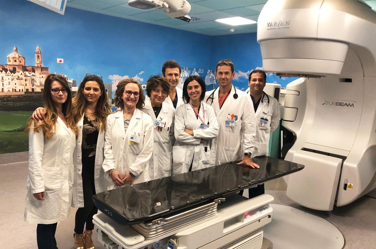 Miulli, primo trattamento in Italia con radioterapia stereotassica