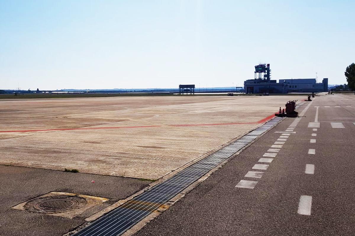 Aeroporto di Grottaglie, lavori per l'ampliamento del piazzale