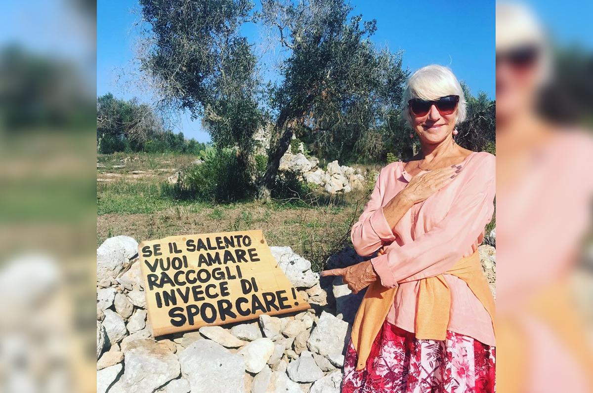 """Helen Mirren: """"Se il Salento vuoi amare raccogli invece di sporcare"""""""