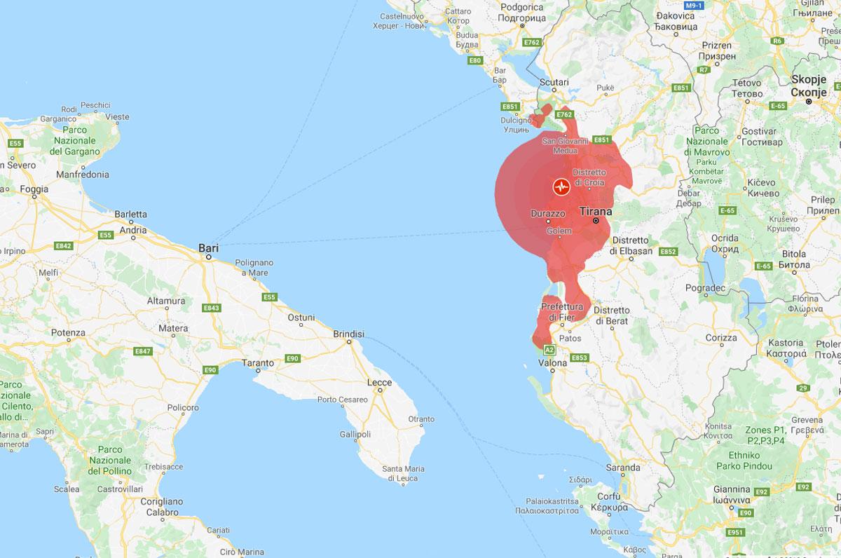 Tirana, nuova scossa di terremoto in Albania