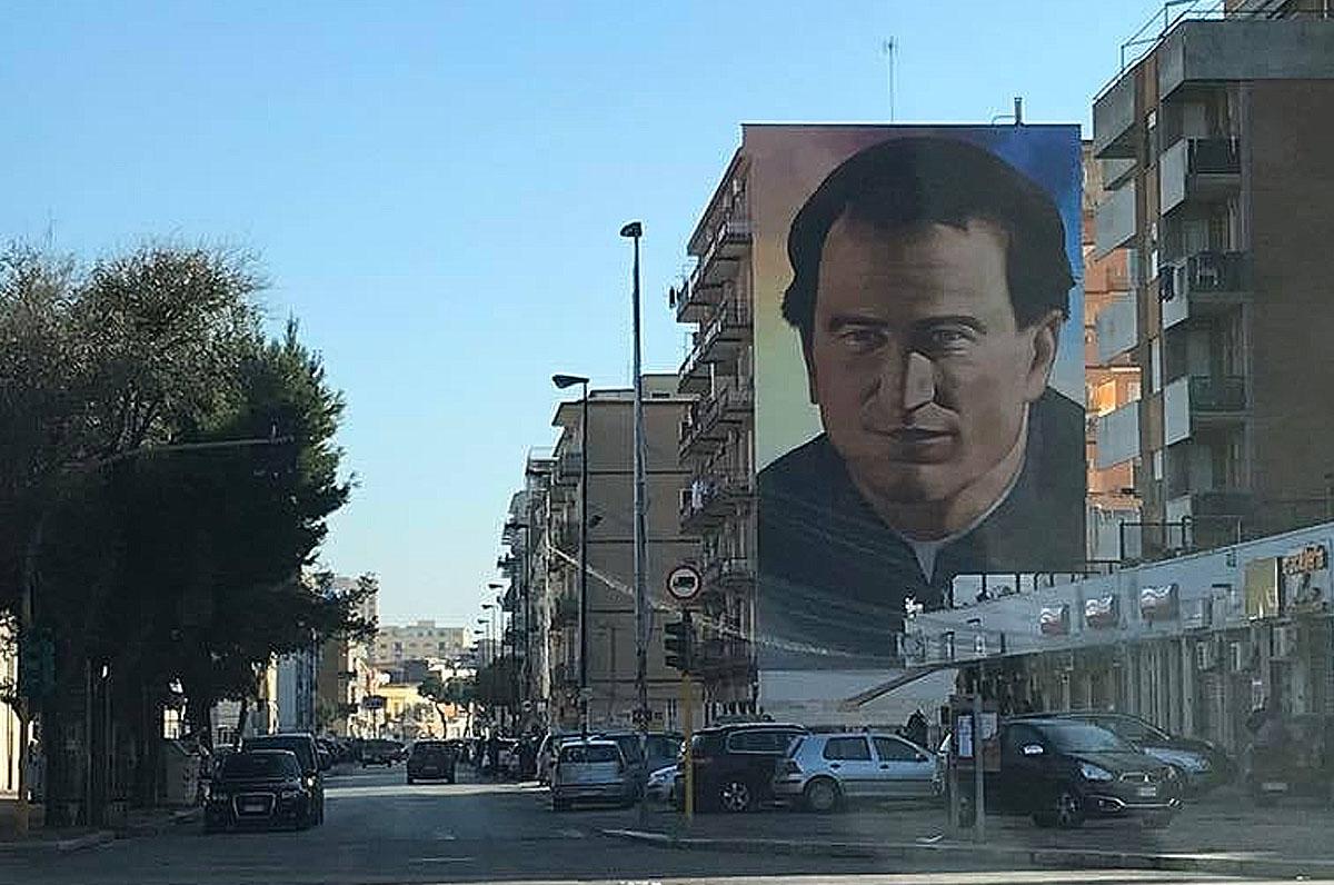 Foggia, nel quartiere Candelaro un murale dedicato a Don Bosco
