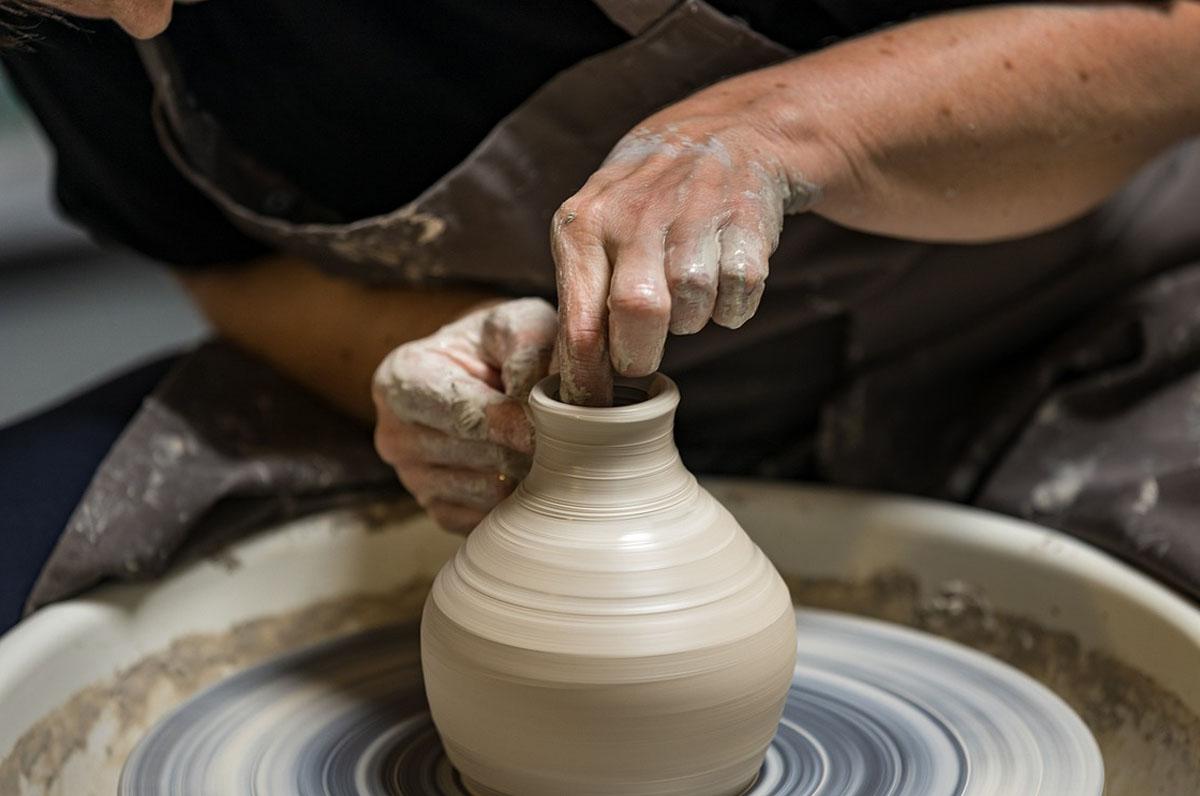 Quartiere delle ceramiche, le botteghe degli artigiani di Grottaglie