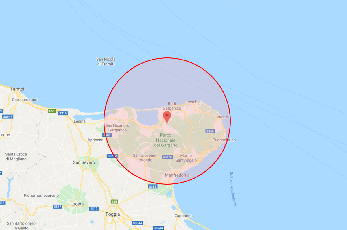 Scossa di terremoto in Puglia, alle 4.24 trema il Gargano