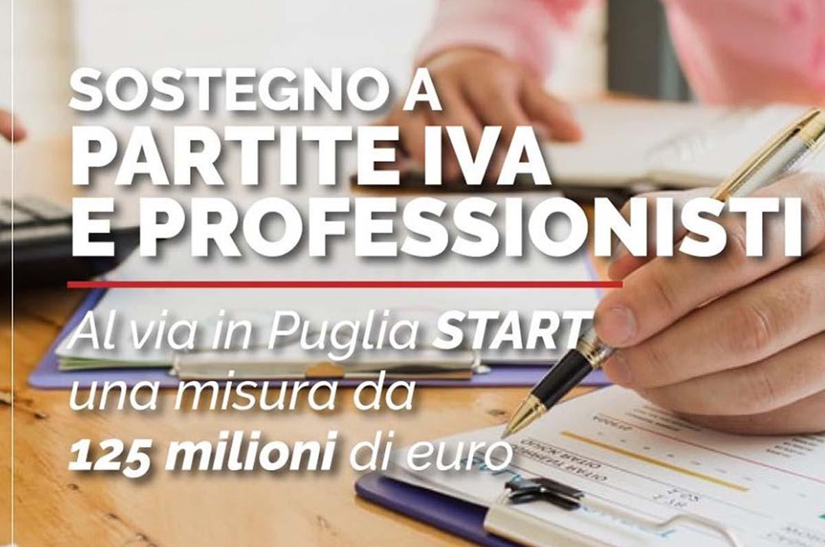 START, sostegno a partite Iva e professionisti