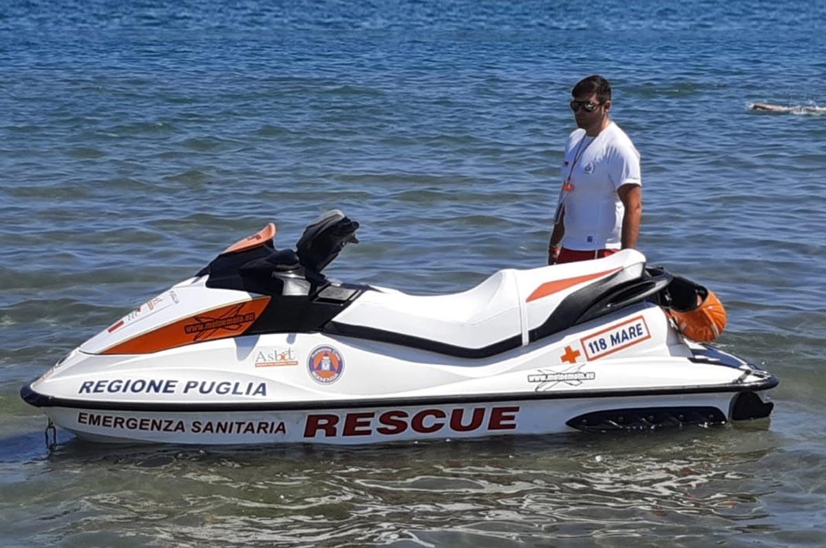 118 Asl Bt: soccorso in acqua a Margherita e Barletta