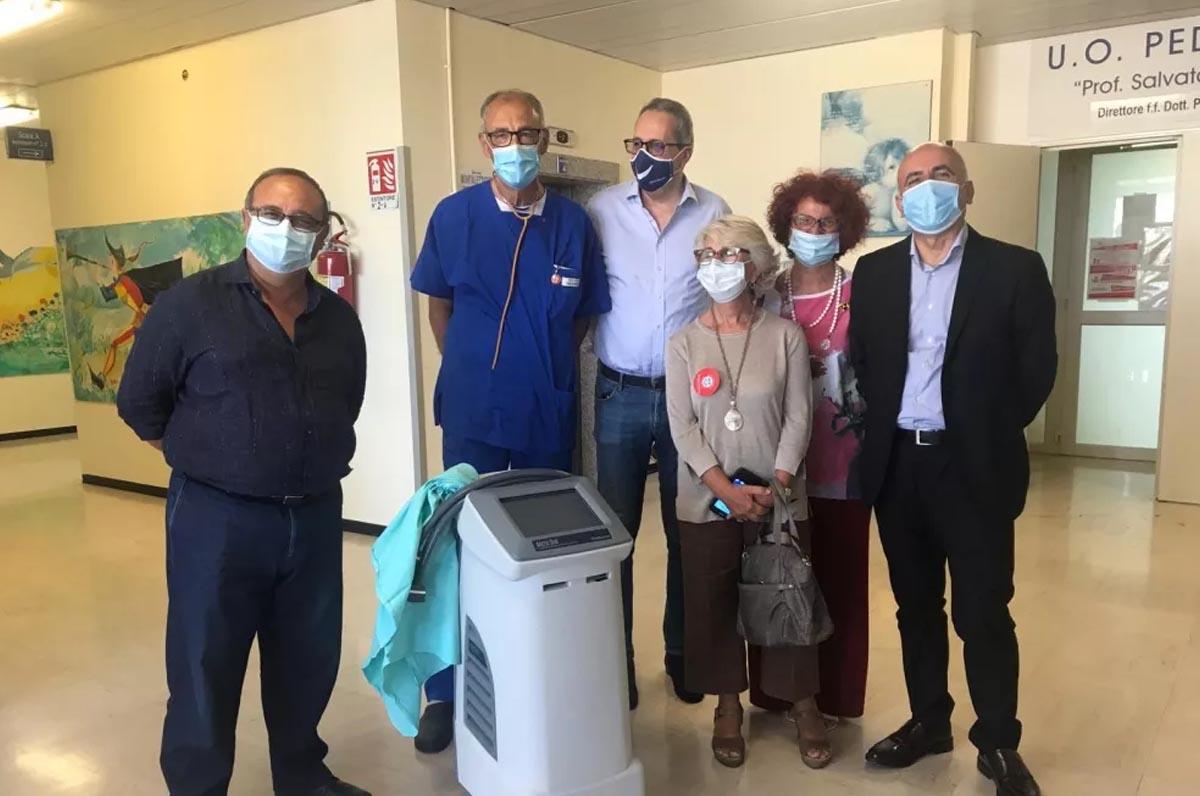 """Ipotermia neonatale, donata importante macchina al """"Fazzi"""""""