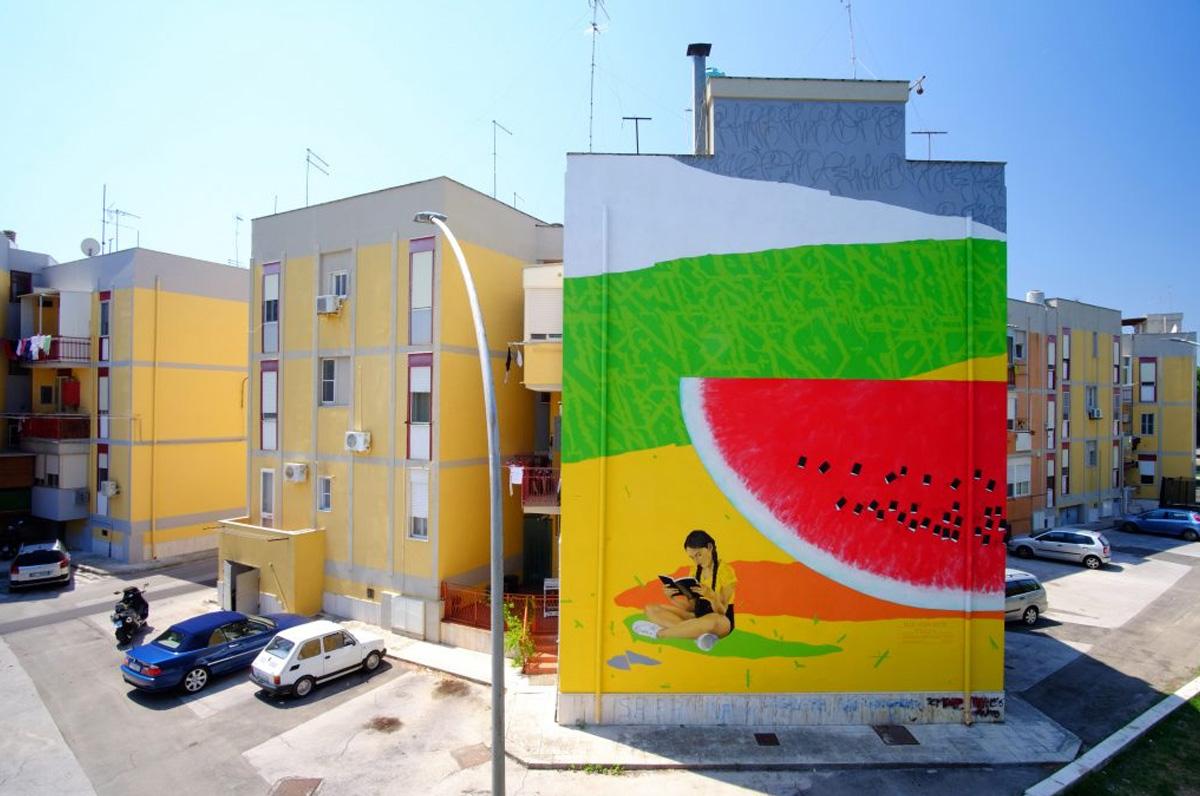 Brindisi, murales nel quartiere Paradiso