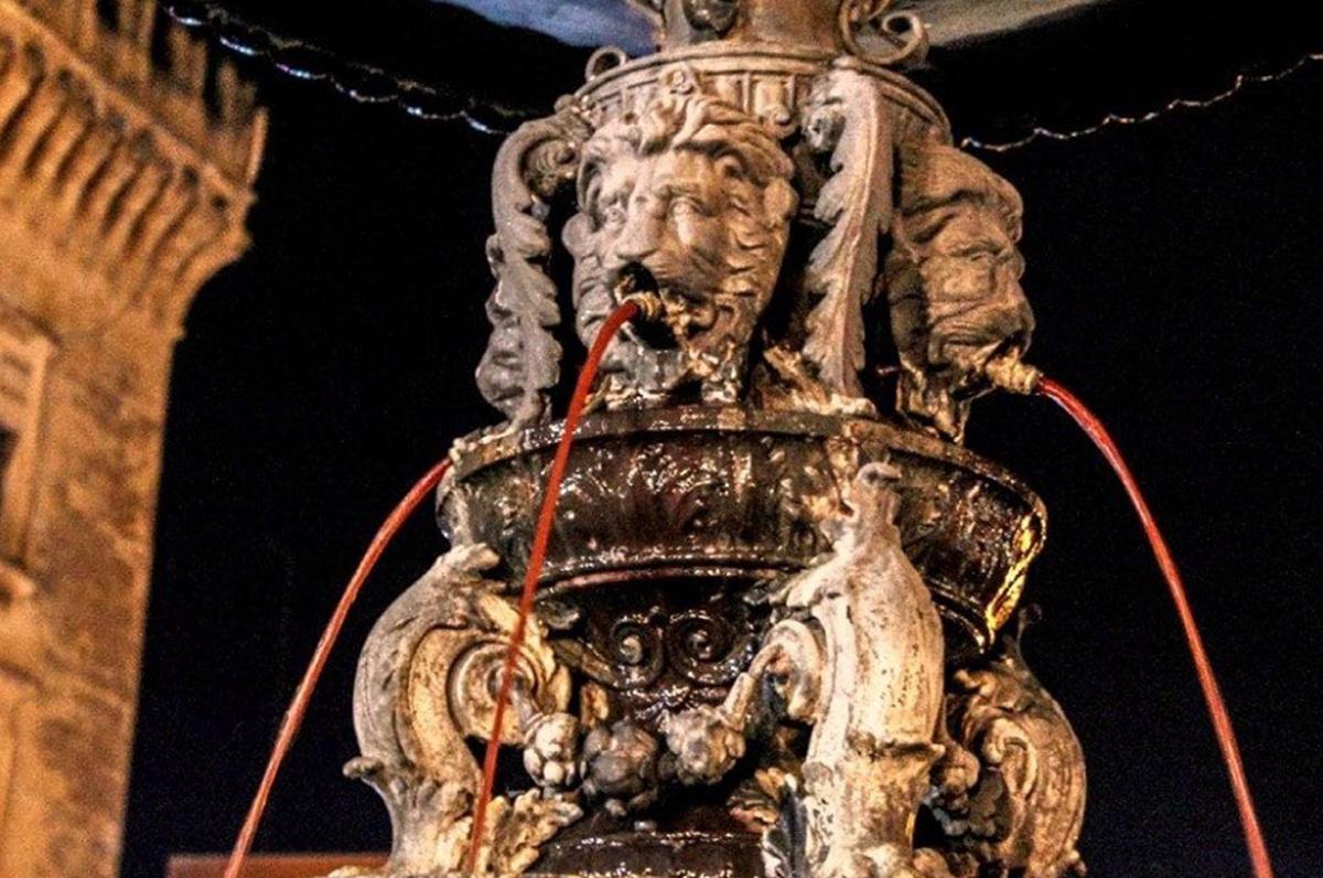 Fontana del vino, il curioso monumento di Carosino