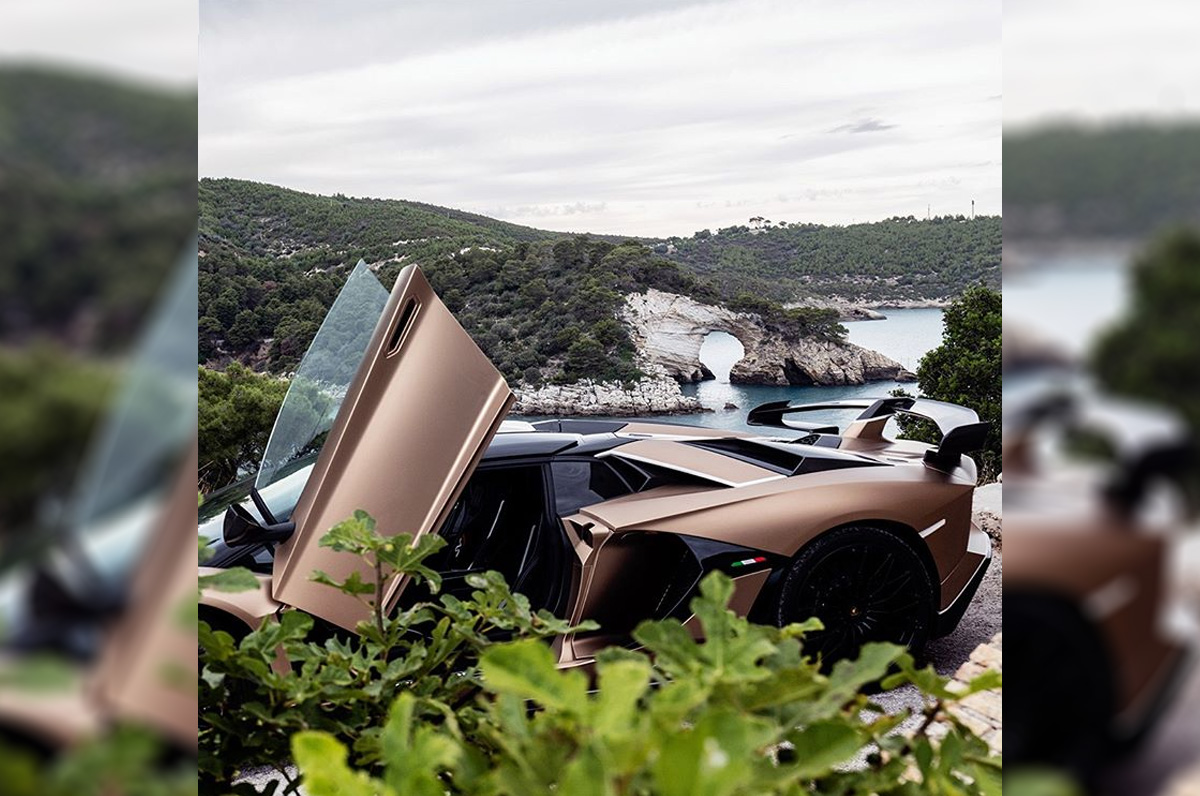 Lamborghini, foto in Puglia