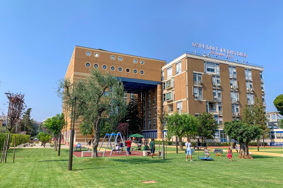 Ospedale pediatrico di Bari, nuovo parco per bambini
