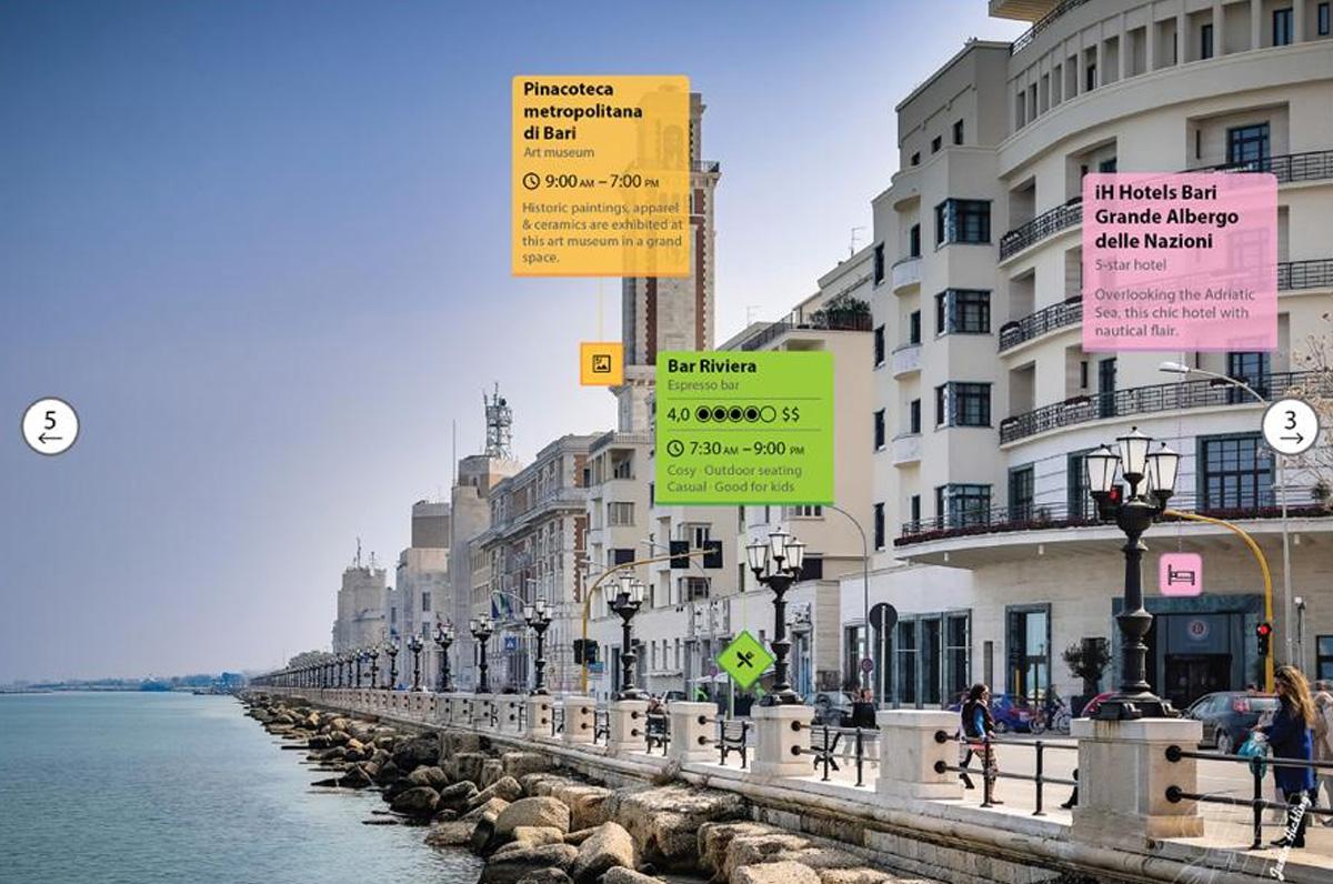 Augmented City, Bari prima nel mondo per realtà aumentata