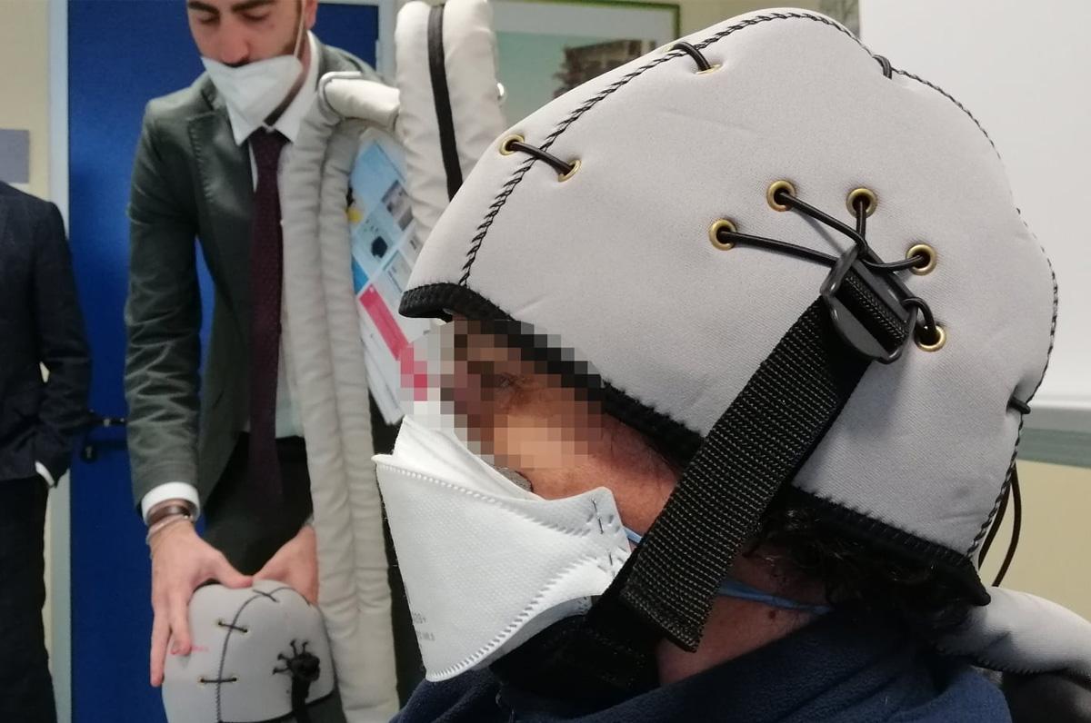 San Paolo Bari, casco per caduta dei capelli