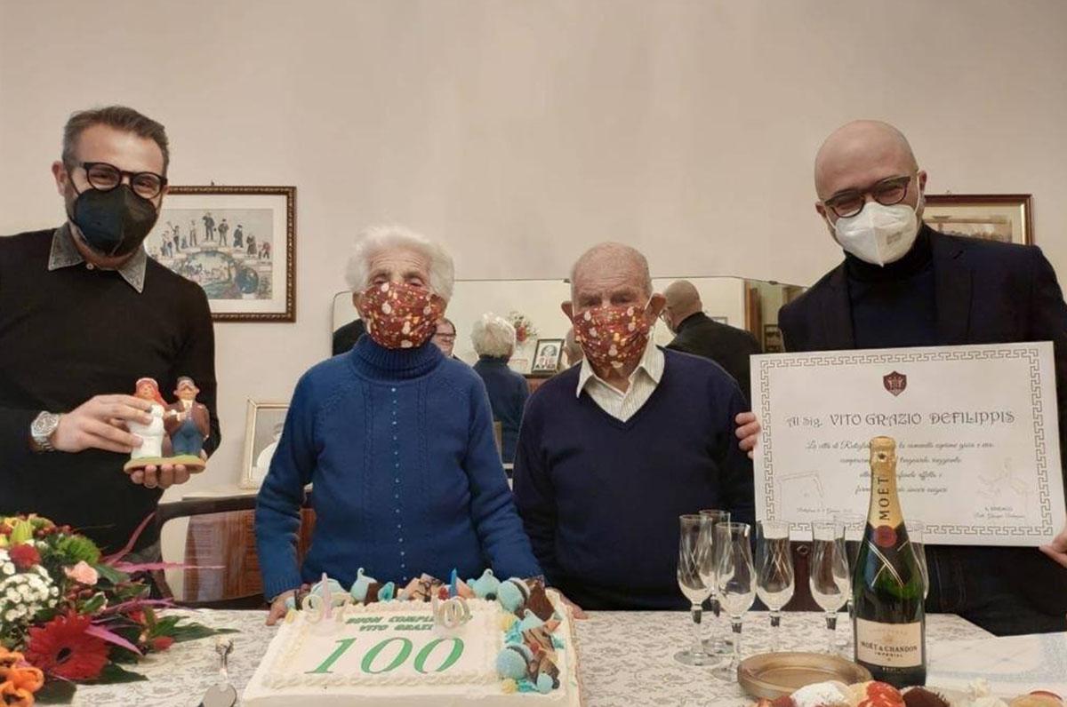 Nonno Vito Grazio, 100 anni