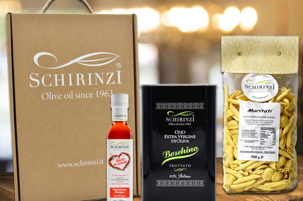 Vendita di olio extravergine di oliva online, lo shop di Schirinzi