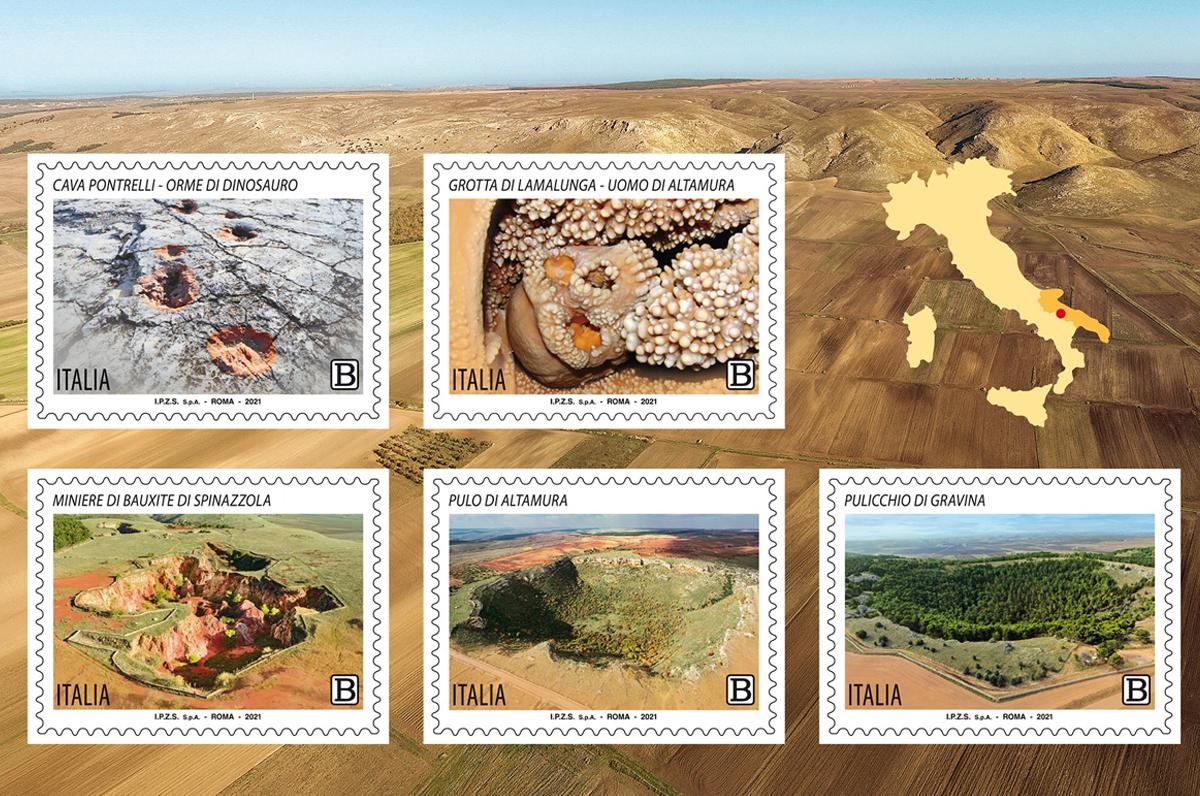 Parco dell'Alta Murgia, 5 francobolli per celebrarne i tesori