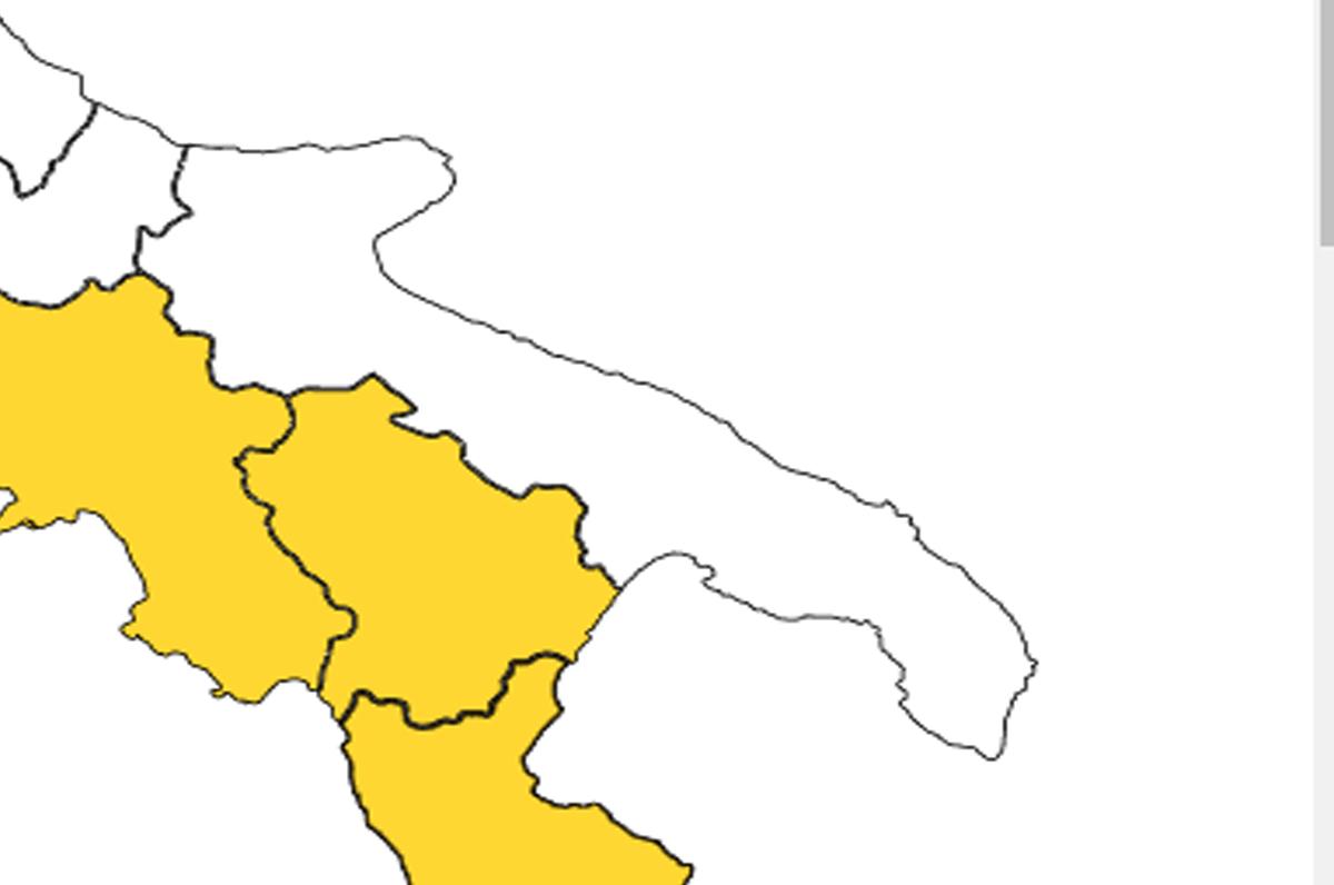 Puglia in zona bianca