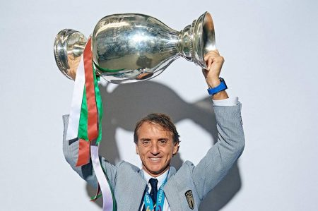 Roberto Mancini in vacanza in Puglia
