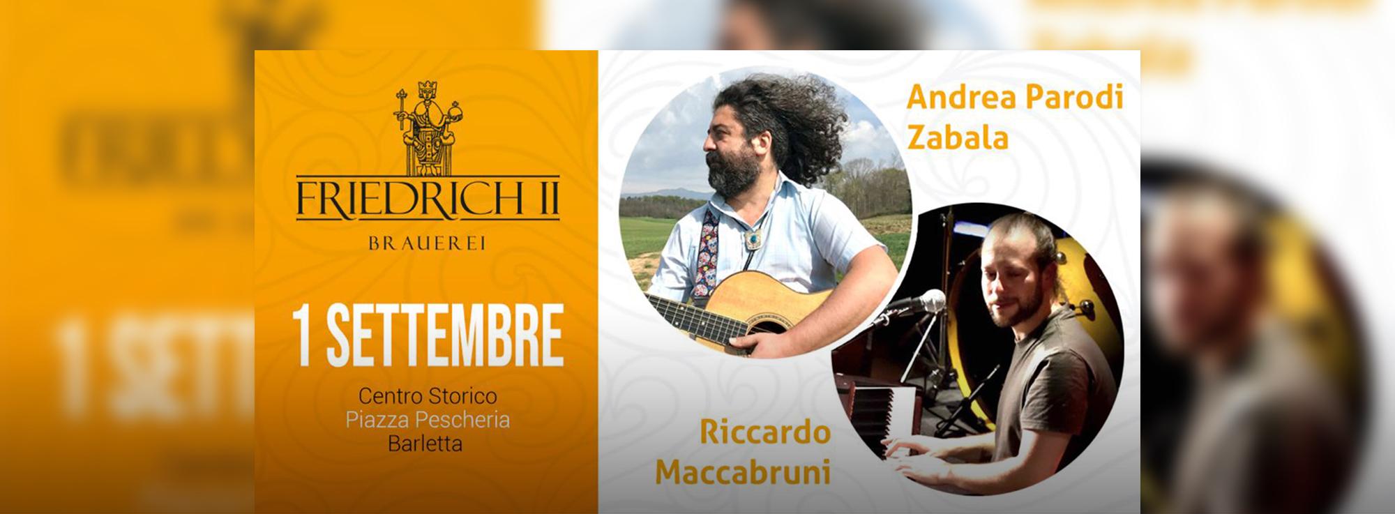 Barletta: Concerto di Andrea Parodi Zabala e Riccardo Maccabruni
