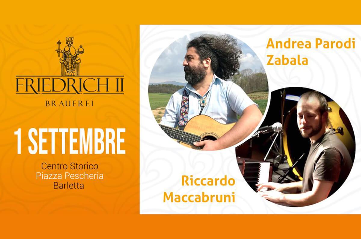 Concerto a Barletta di Andrea Parodi Zabala e Riccardo Maccabruni